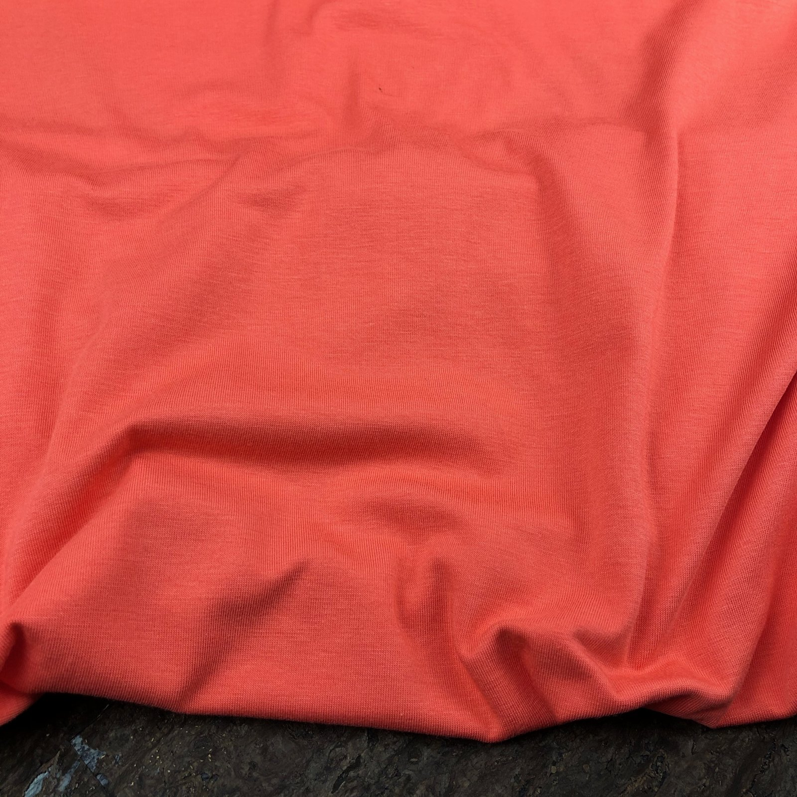 Bamboo Cotton Jersey Knit - 150 gsm - Hot Coral - Kendor