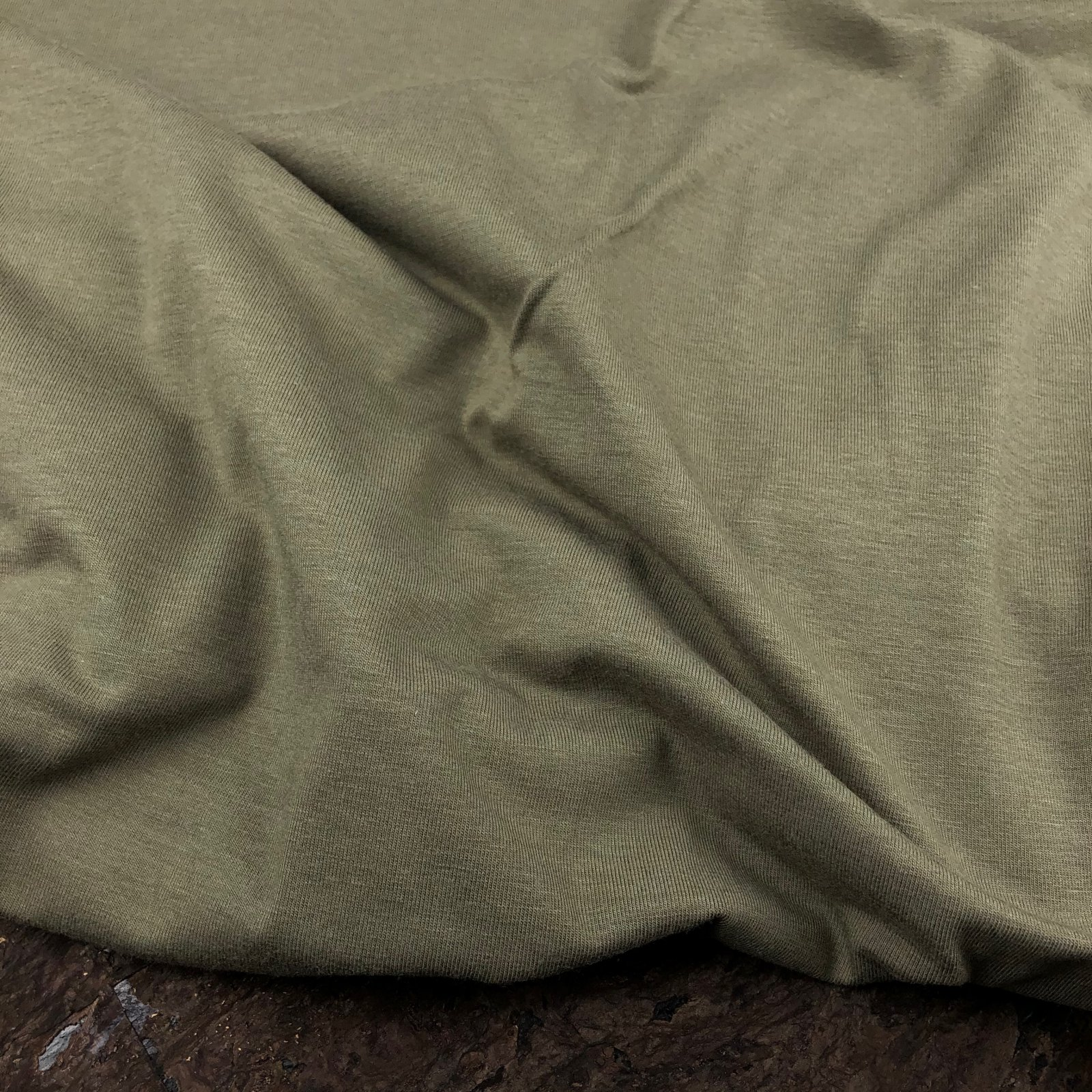 Bamboo Cotton Jersey Knit - 200 gsm - Olive - Kendor