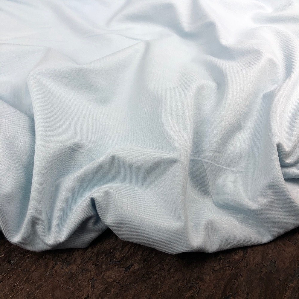 Powder Blue - Bamboo Cotton Jersey Knit - 200 gsm - Kendor