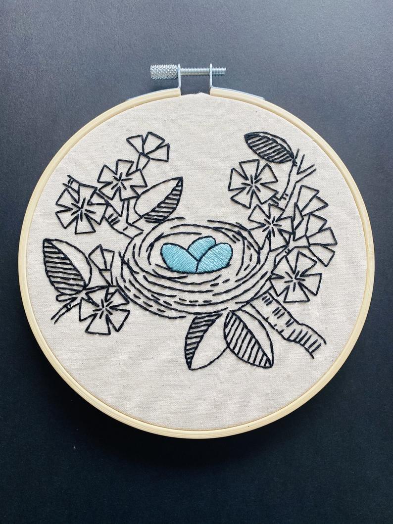Nest Egg - Hook, Line & Tinker Embroidery Kit