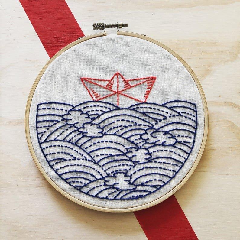 Hope Floats My Boat - Hook, Line & Tinker Embroidery Kit