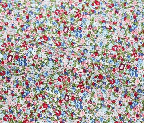 Rayon Poplin Print - Tiny Floral White - Telio & Cie