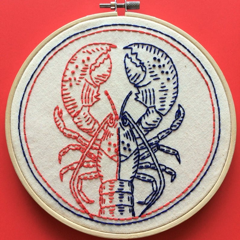 Half Baked - Hook, Line & Tinker Embroidery Kit