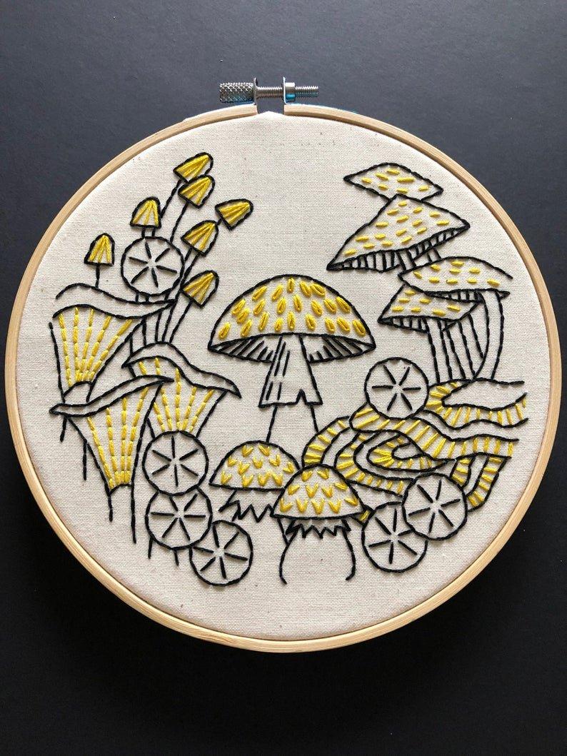 Fungus Among Us - Hook, Line & Tinker Embroidery Kit