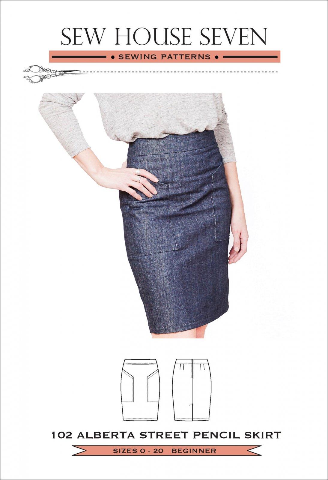 Alberta Street Pencil Skirt - Sew House Seven