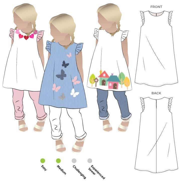 Andie dress - Style Arc - Children's