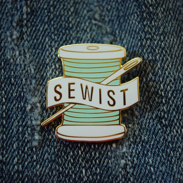 Aqua Sewist Pin - Abby Glassenberg