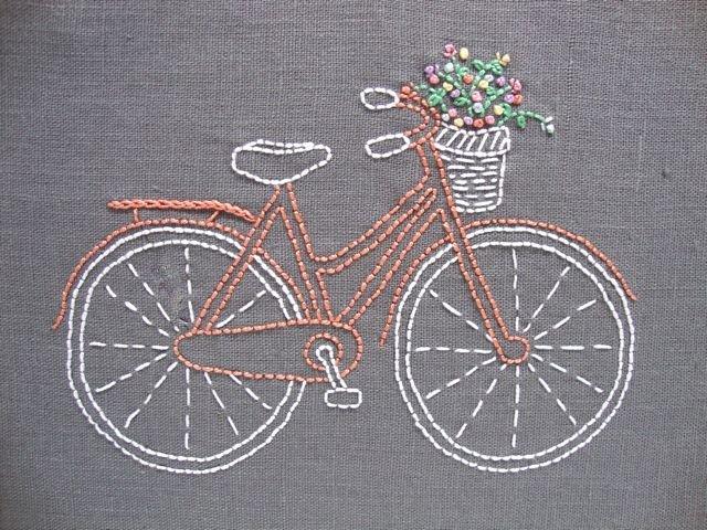 Bicycle - I Heart Stitch Art Embroidery Kit