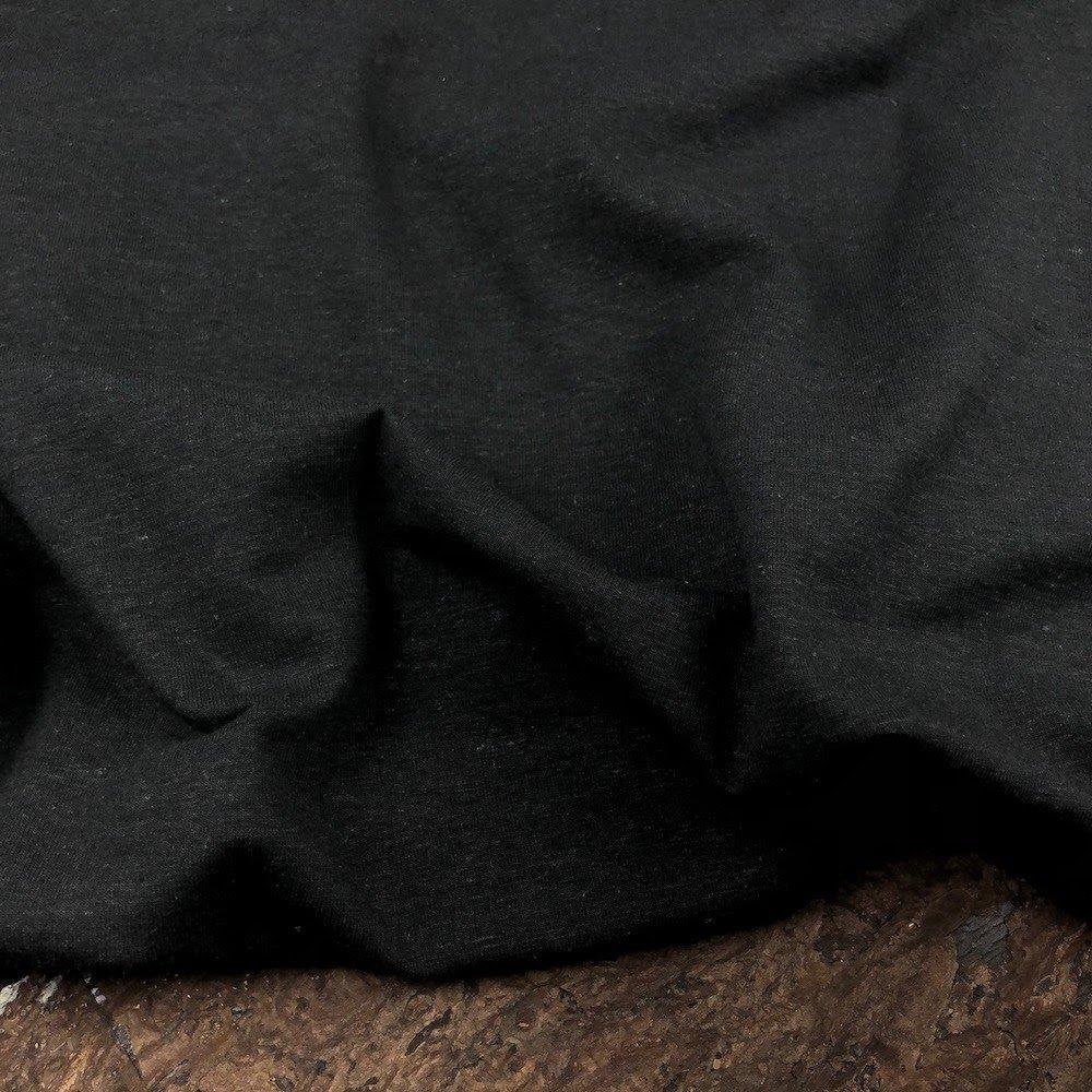 Hemp Organic Cotton Spandex 198 gsm - Black - Kendor