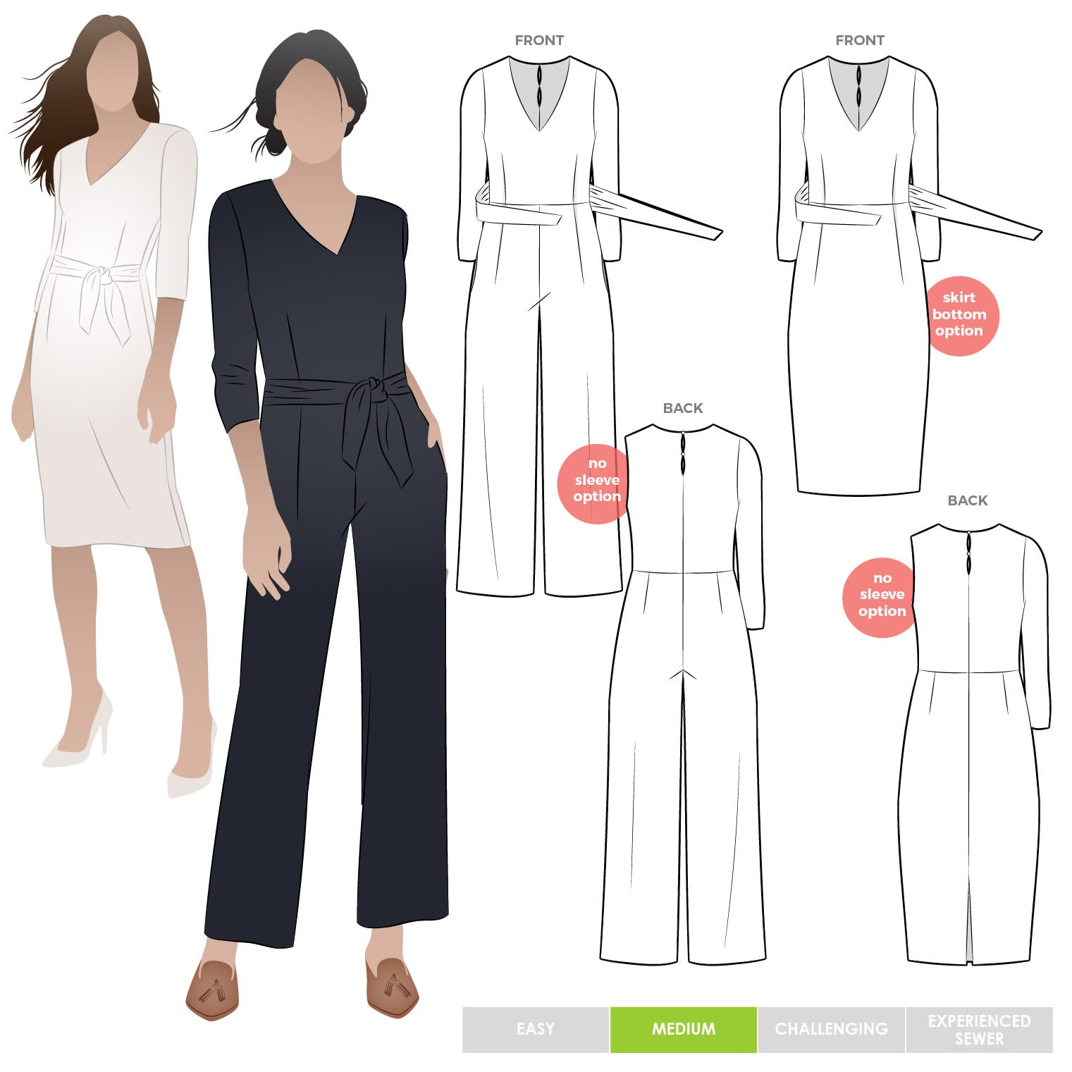 Brice Jumpsuit/Dress - Style Arc