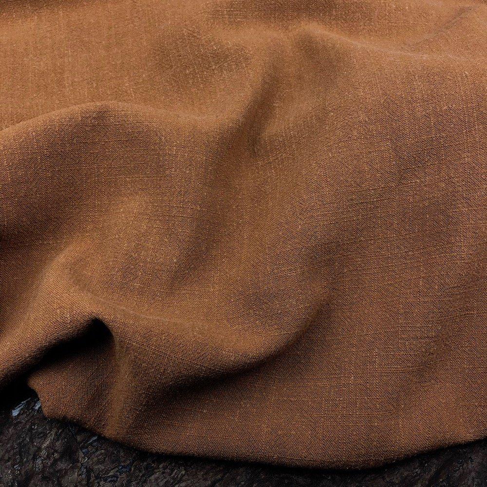 Brown - Viscose Linen Silky Noil - Telio & Cie