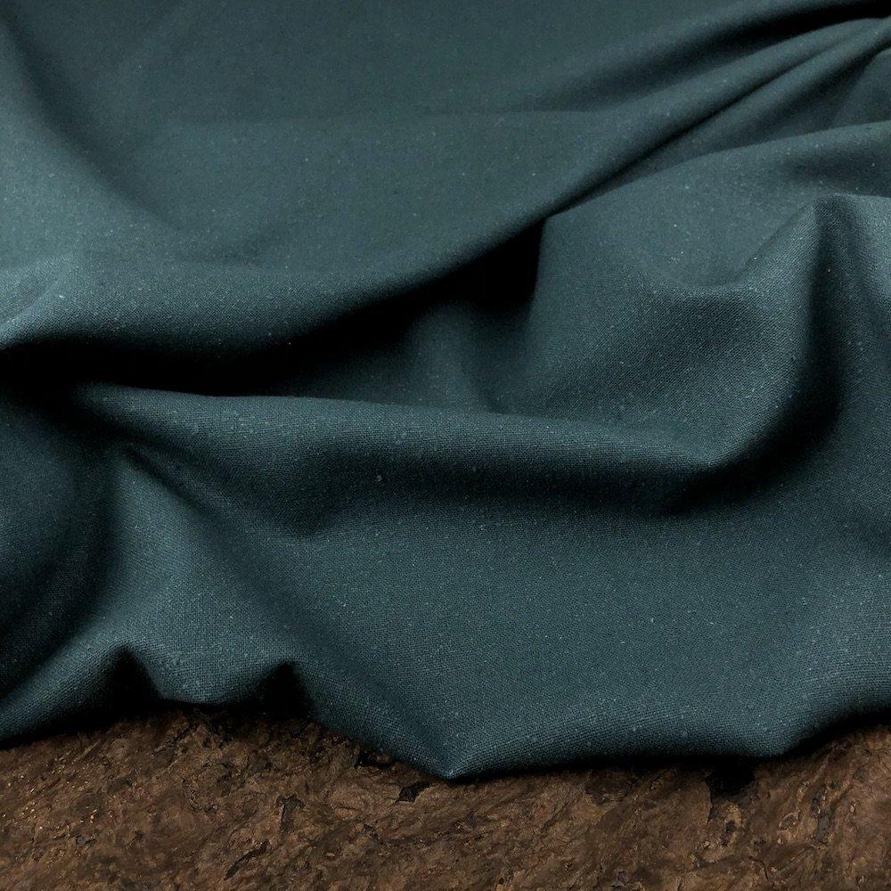 Raw Silk Noil - Canard - Exotic Silks