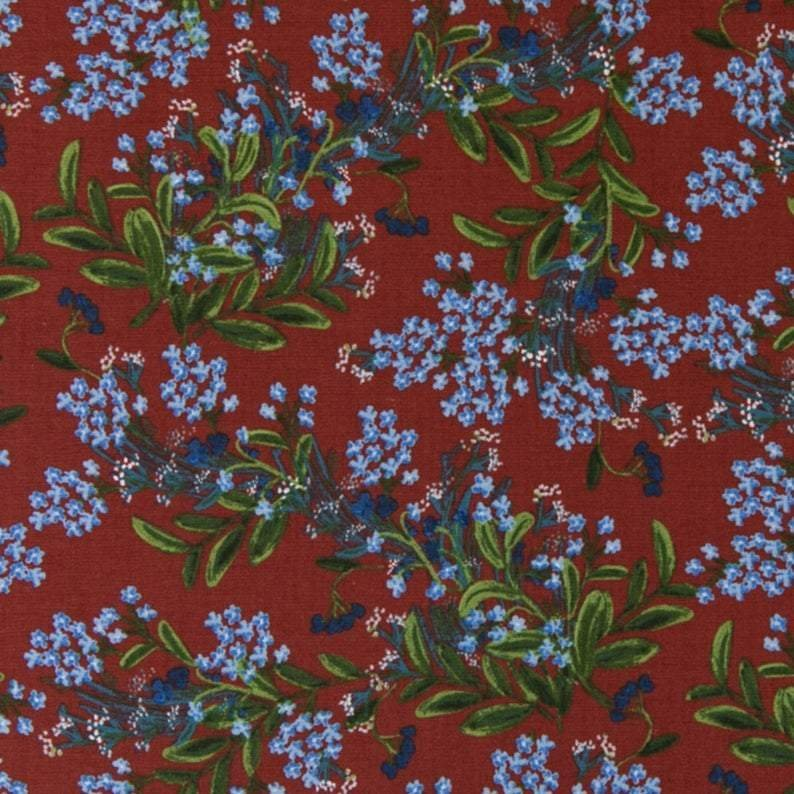 Cornflower Burgundy - Meadow Cotton - Rifle Paper Co
