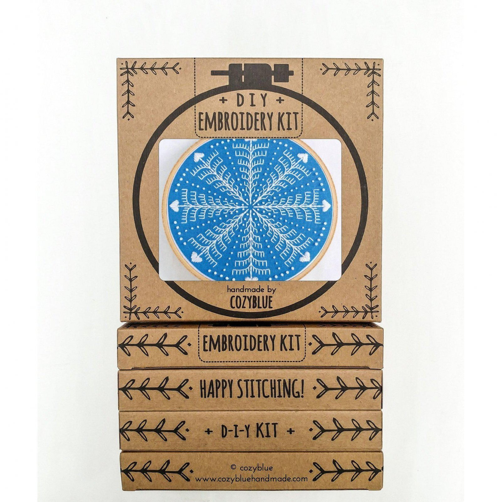 Winter Snowflake - Cozy Blue - Embroidery Kit