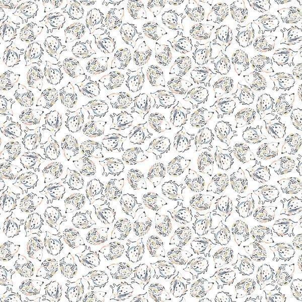 Hedgehogs White - Dear Stella Cotton