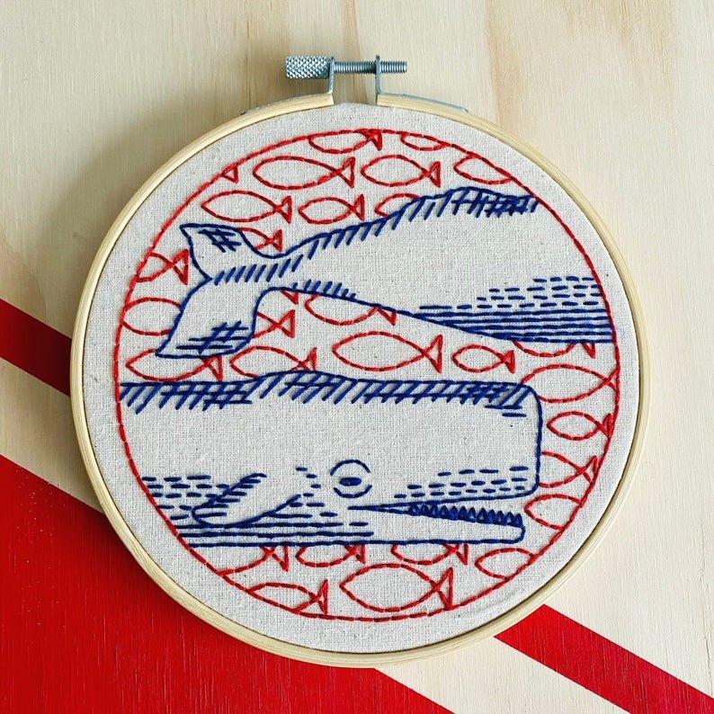 Deep Dive - Hook, Line & Tinker Embroidery Kit