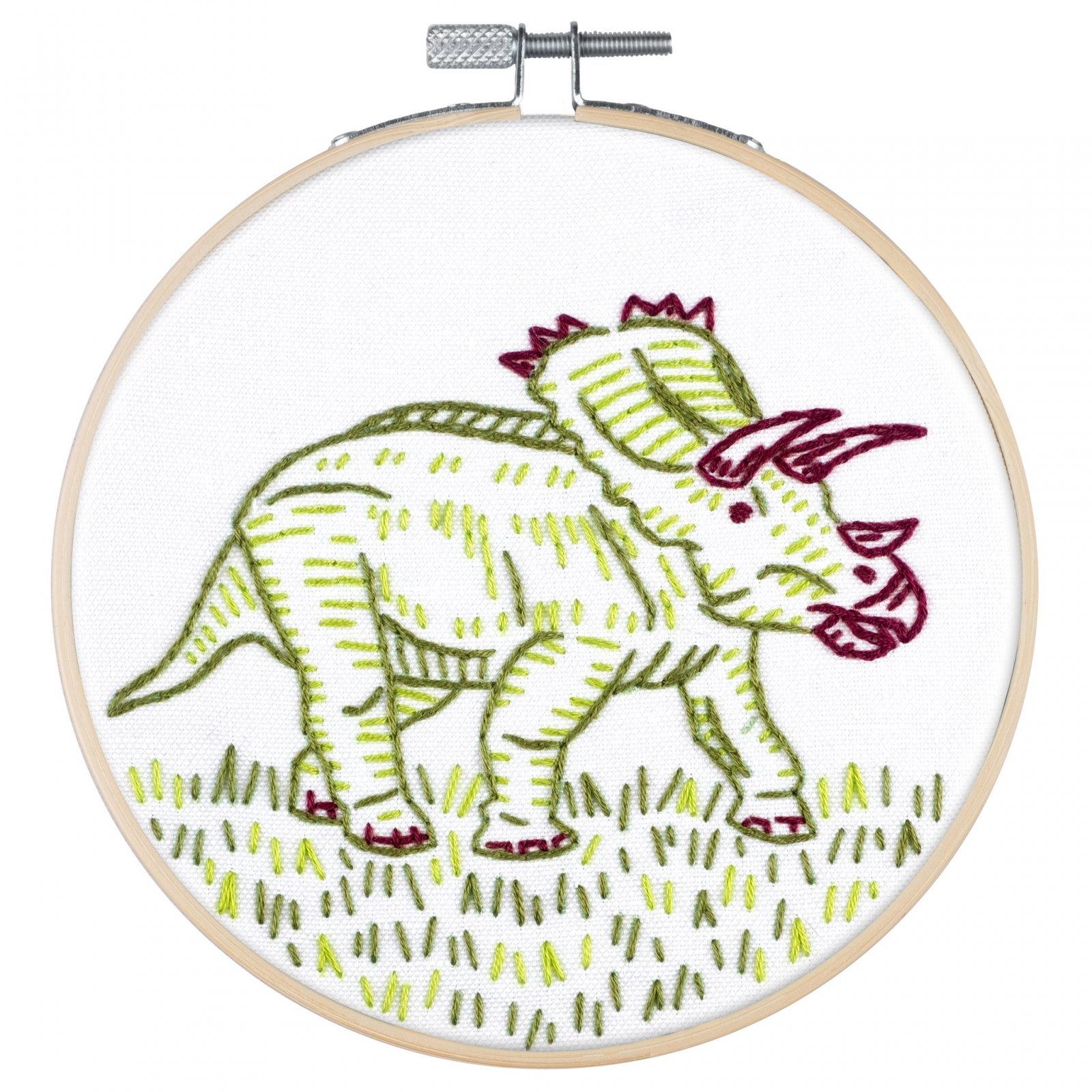 PopLush Embroidery Kit 5 - Dino-Mite!