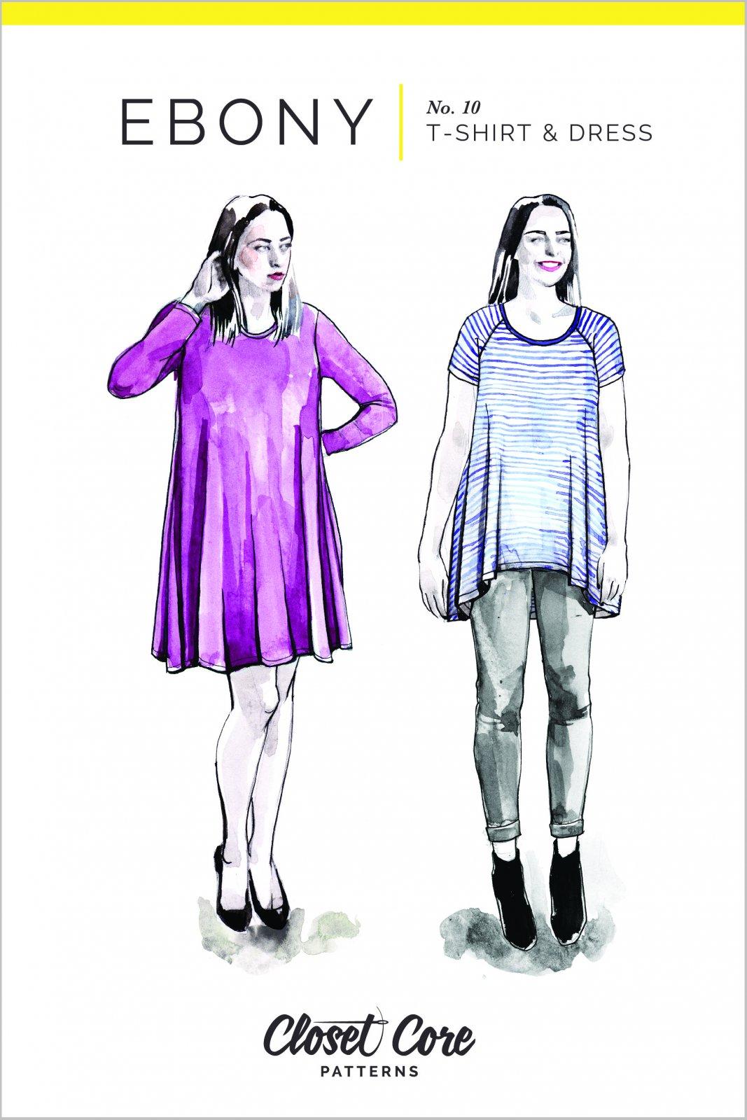 Ebony Tee & Dress - Closet Core Patterns
