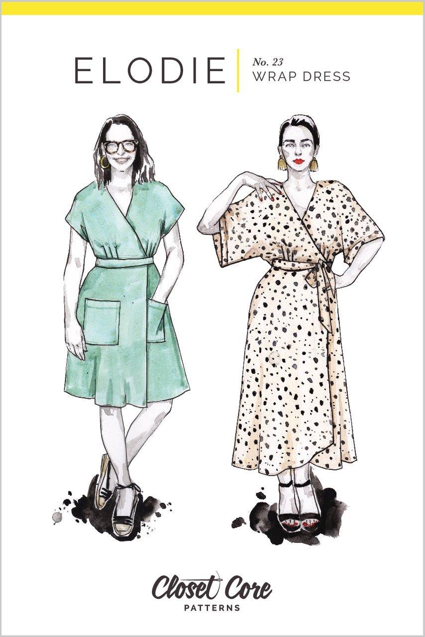 Elodie Wrap Dress - Closet Core Patterns