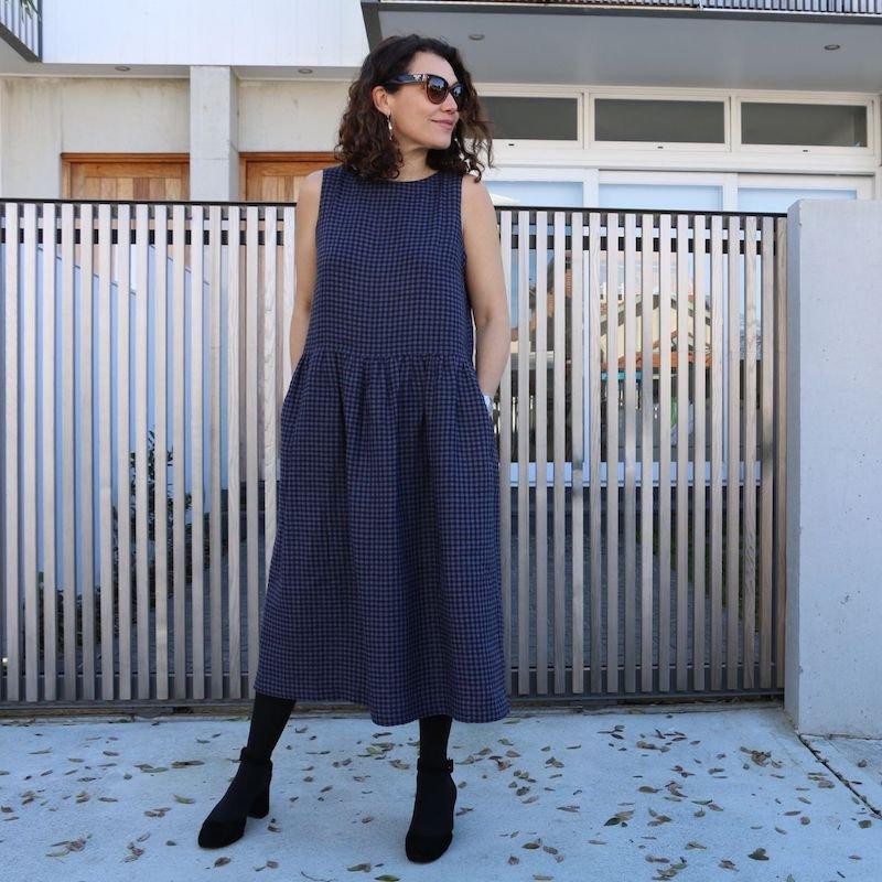 Felicia Pinafore Dress - Tessuti Patterns