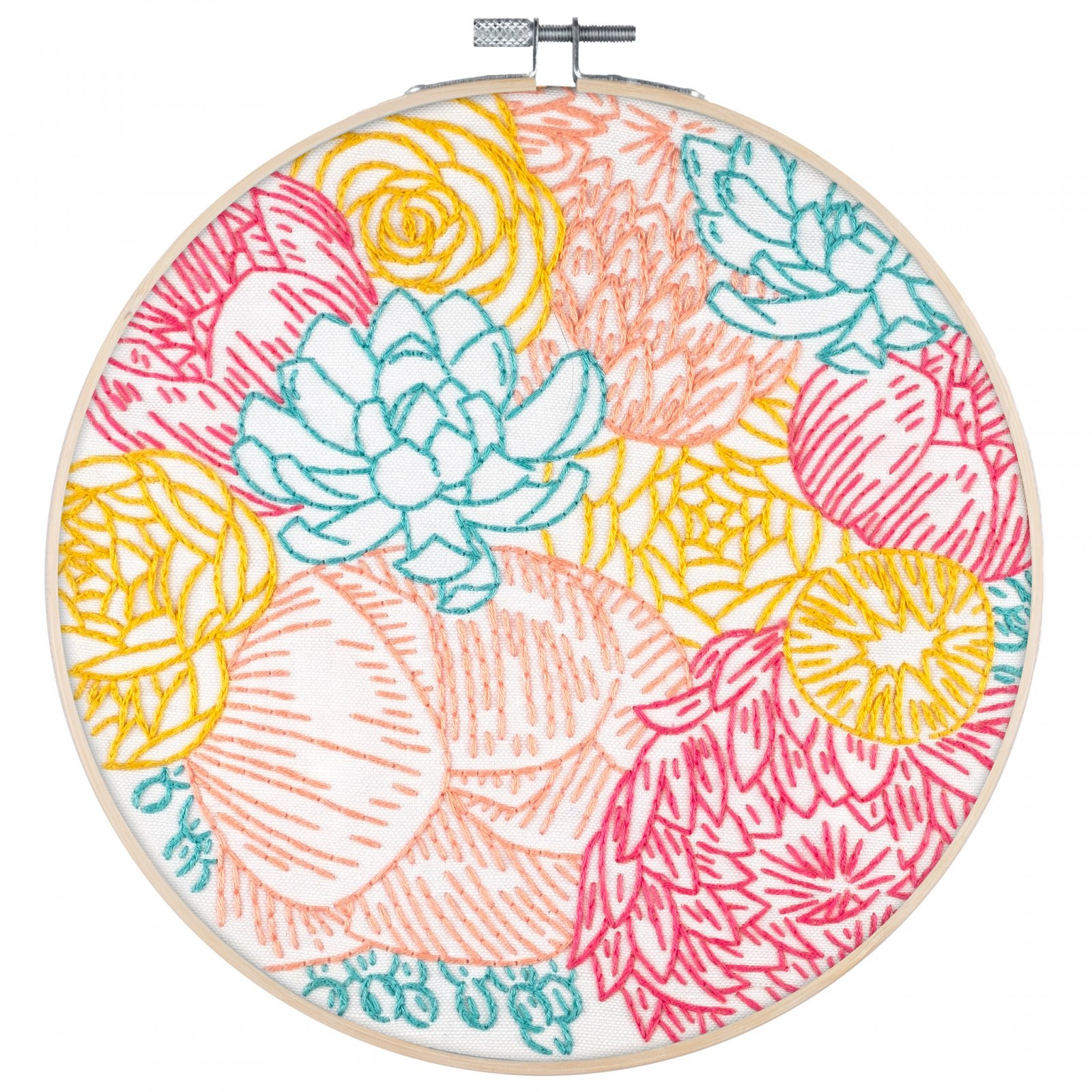 PopLush Embroidery Kit 8 - Floral Profusion
