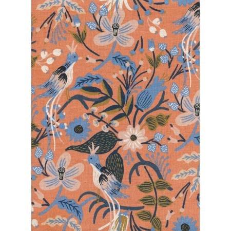 Folk Birds Peach - Les Fleurs Canvas - Rifle Paper Co.