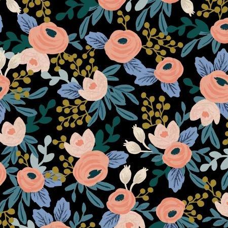 Garden Party Canvas - Rosa Black - Rifle Paper Co.
