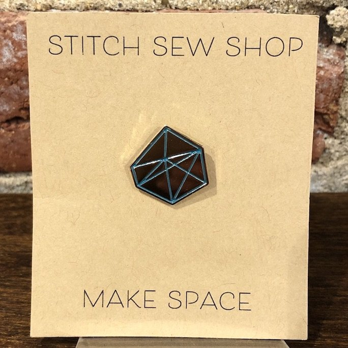 Geometric Enamel Pin - Stitch Sew Shop