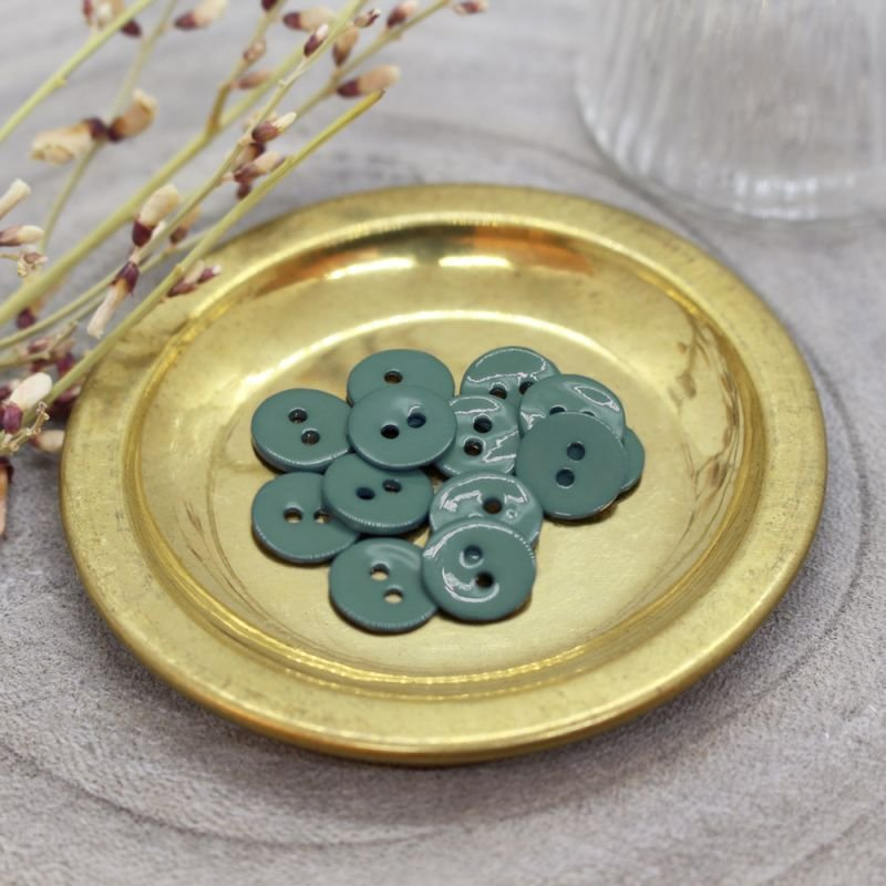 10 mm Glossy Buttons - Cactus - Atelier Brunette