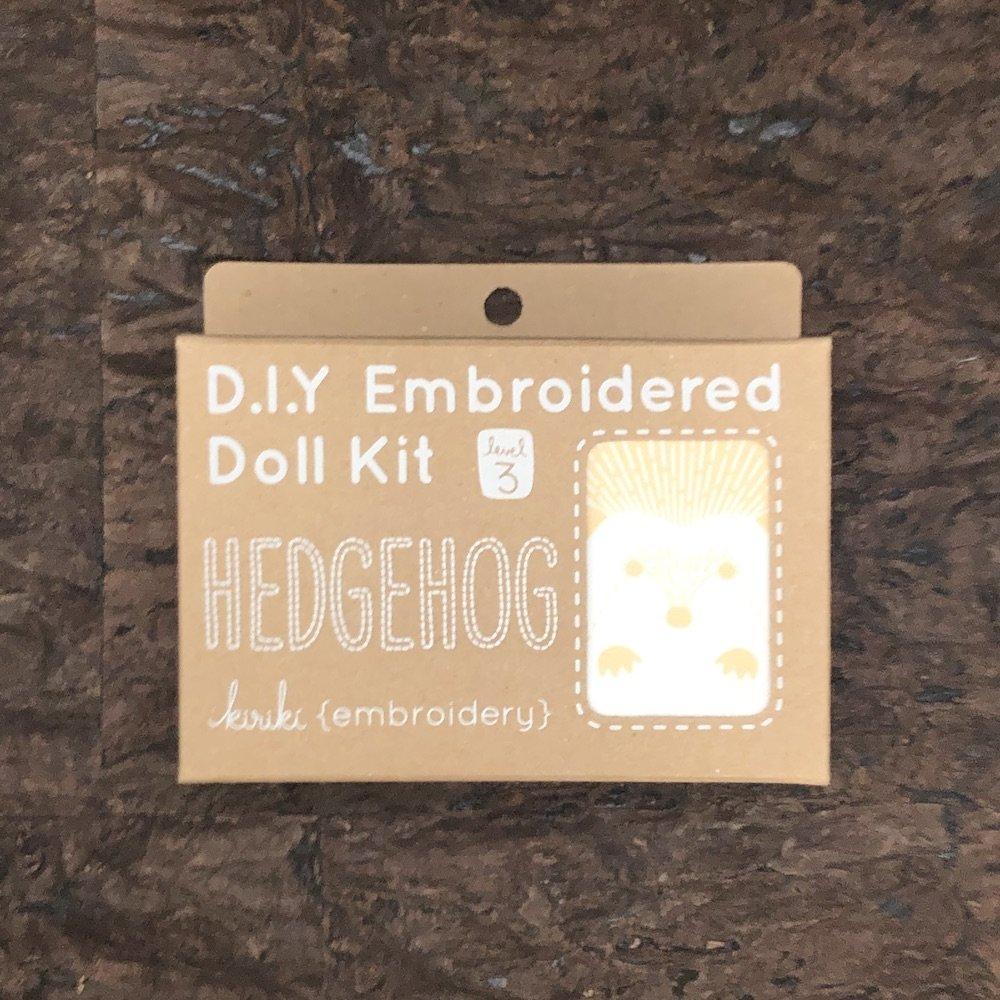 Hedgehog - D.I.Y Embroidered Doll Kit - Kiriki Press
