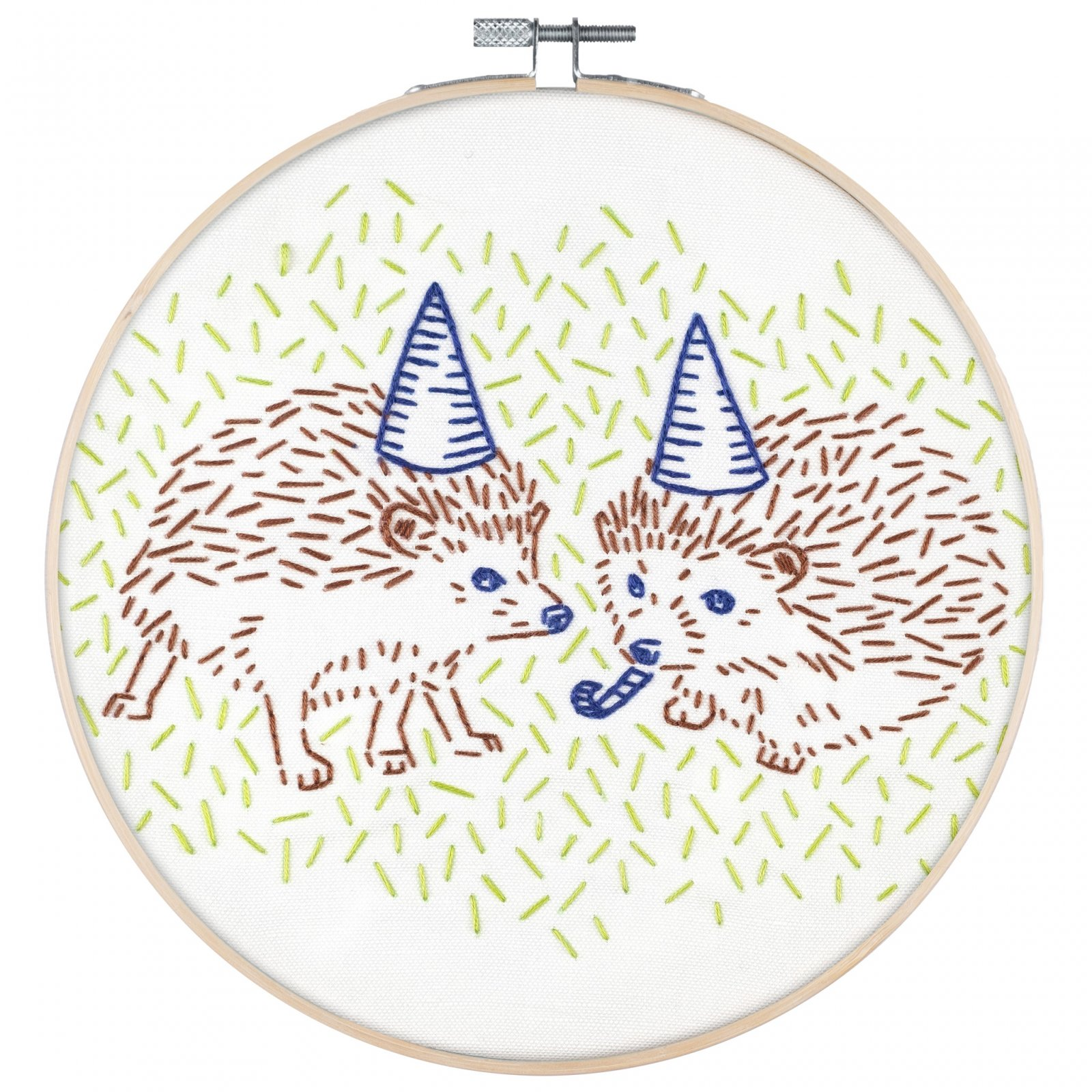 Hedgehog Party - PopLush Embroidery Kit 8