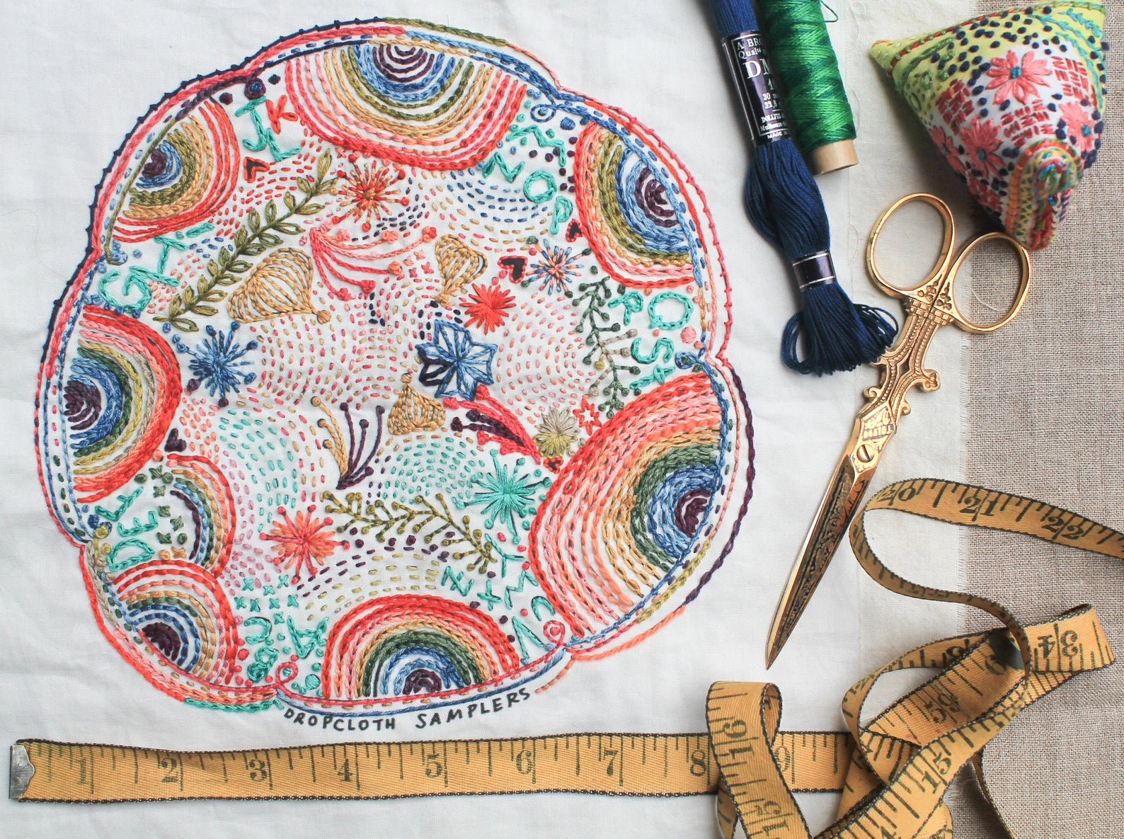 Disco Nap Embroidery Sampler - Dropcloth Samplers