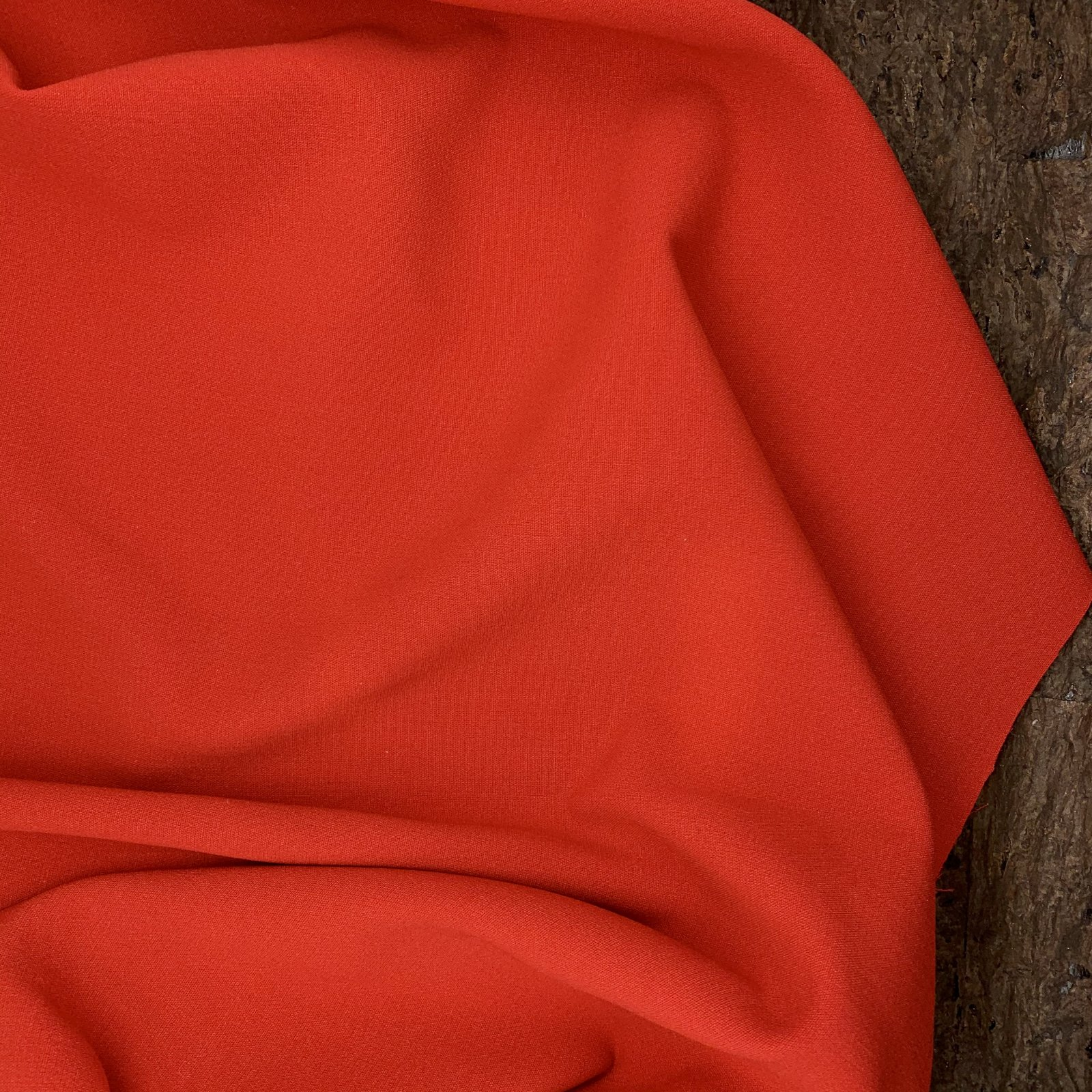 Italian Wool - Red Stretch Crepe