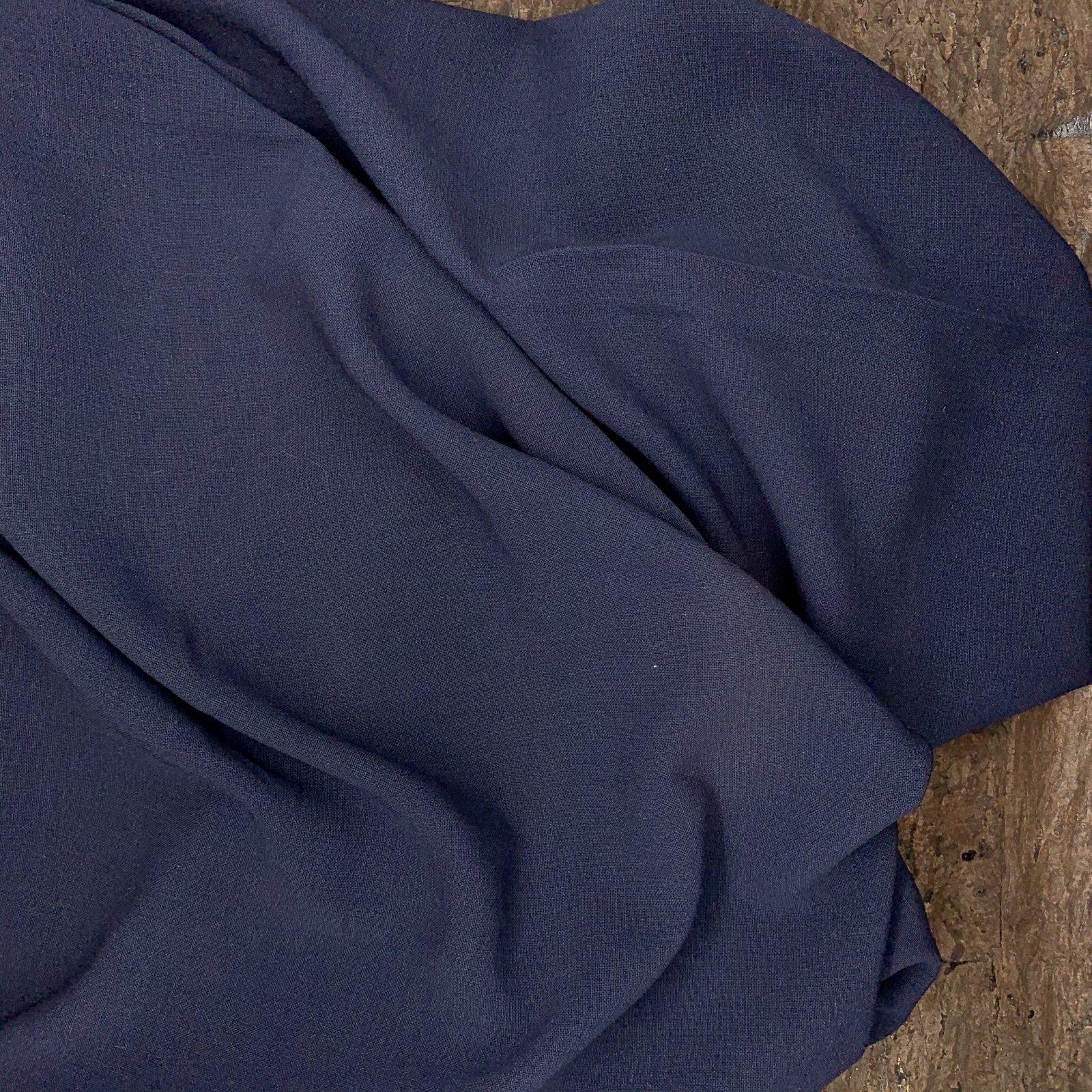 Navy Stretch Crepe - Italian Wool