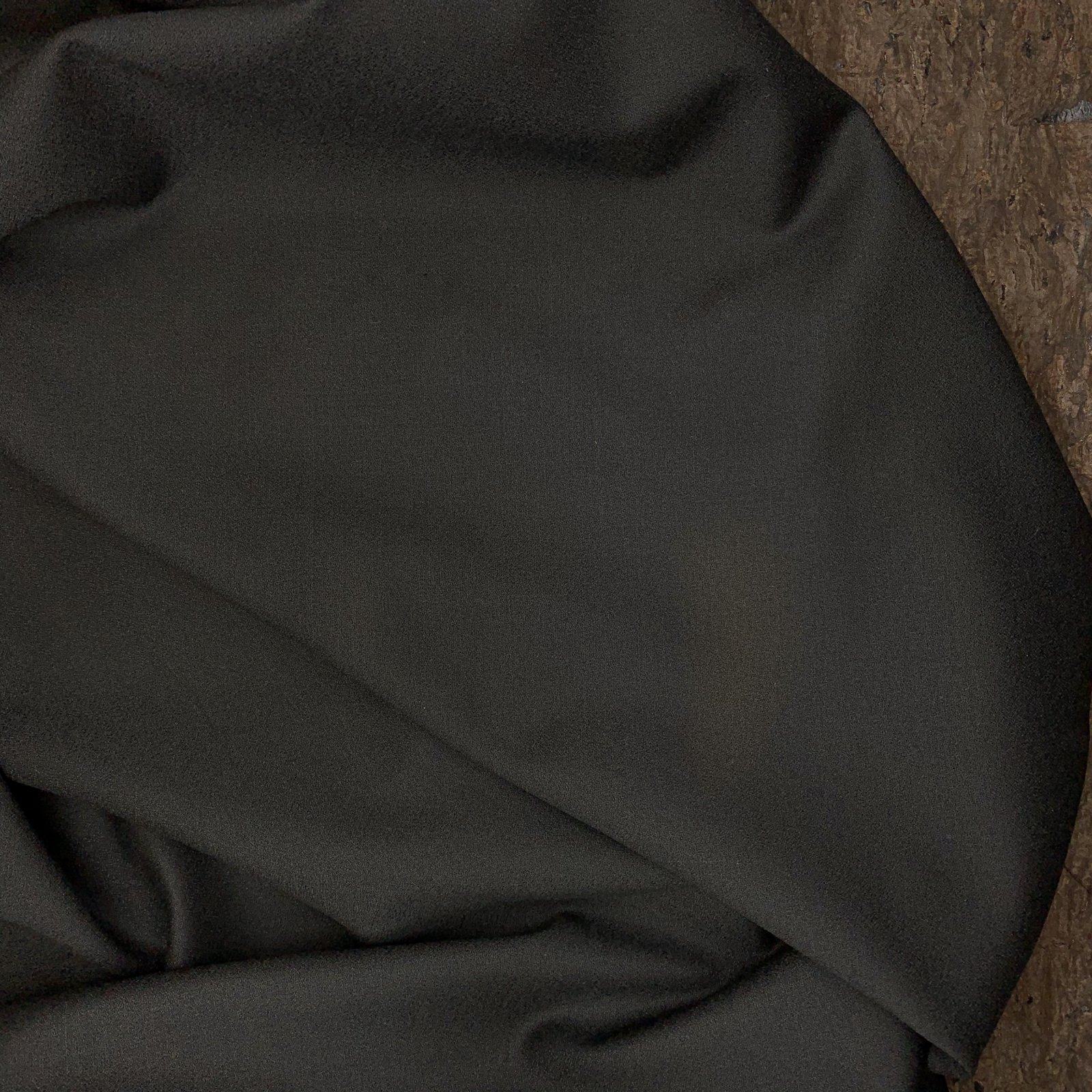 Black Stretch Crepe - Italian Wool