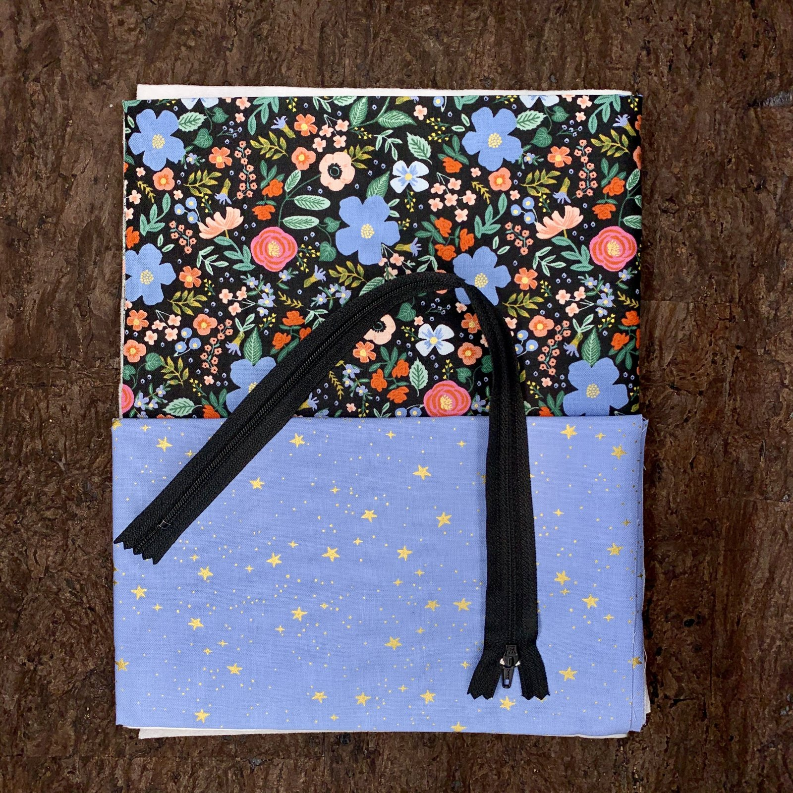 Stitch Box Bag Kit - Periwinkle Meadow