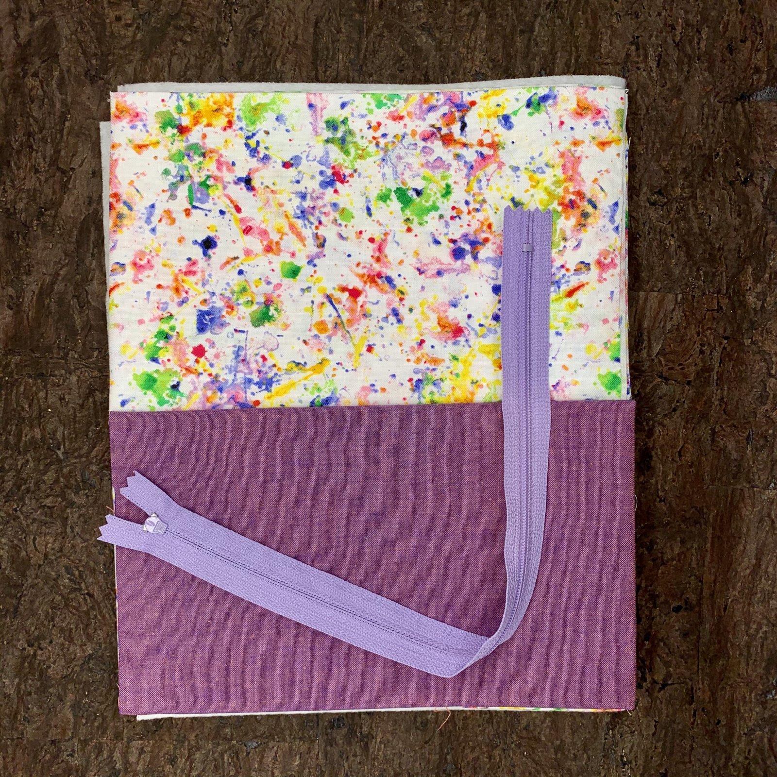 Stitch Box Bag Kit - Purple Splatter