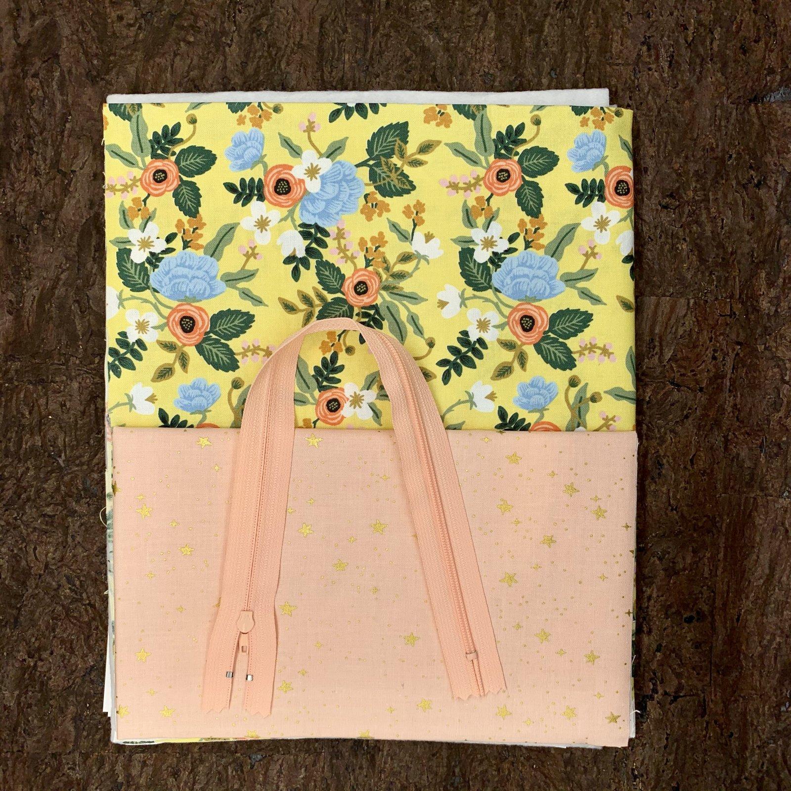 Stitch Box Bag Kit - Yellow Bouquet
