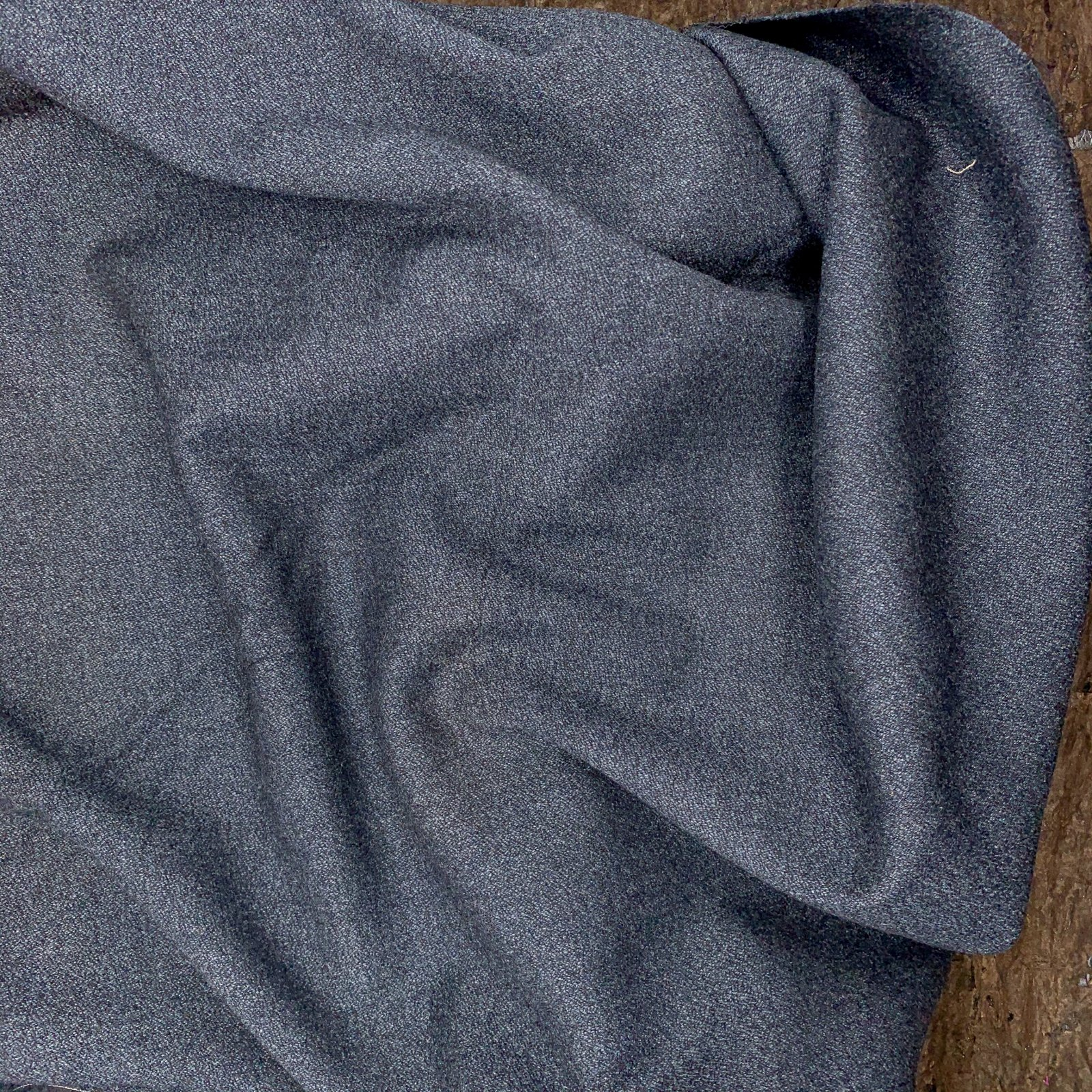 Heathered Navy  - Italian Wool