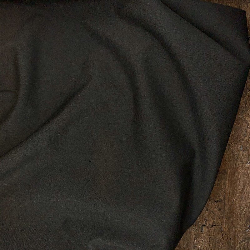 Black Stretch - Rayon Suiting