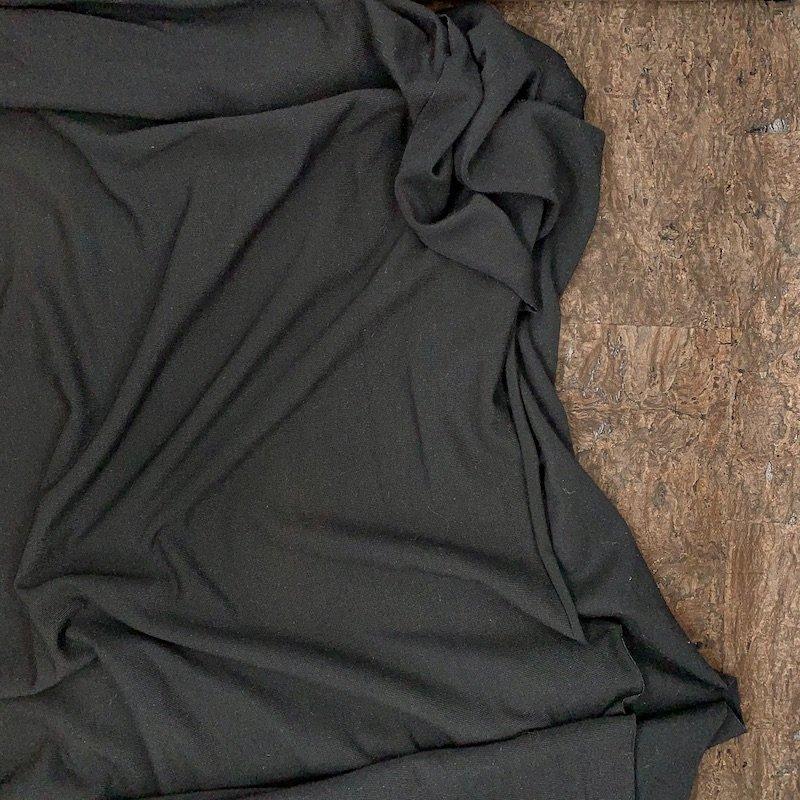 Black - Modal Jersey Knit - 250 gsm - Kendor