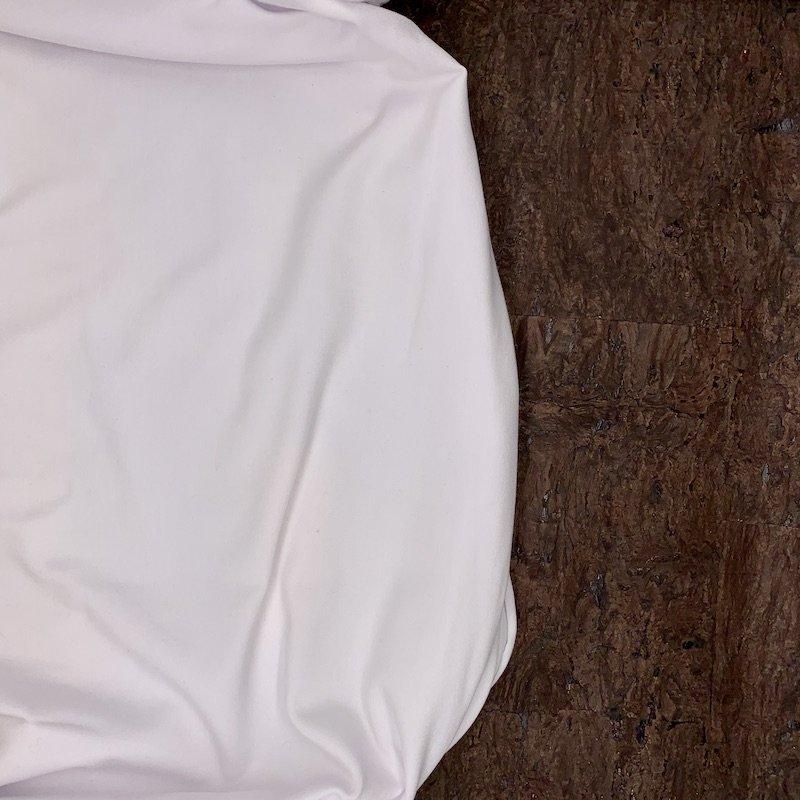 REMNANT - 1 3/4 yd - Modal Jersey Knit - 250 gsm - White - Kendor