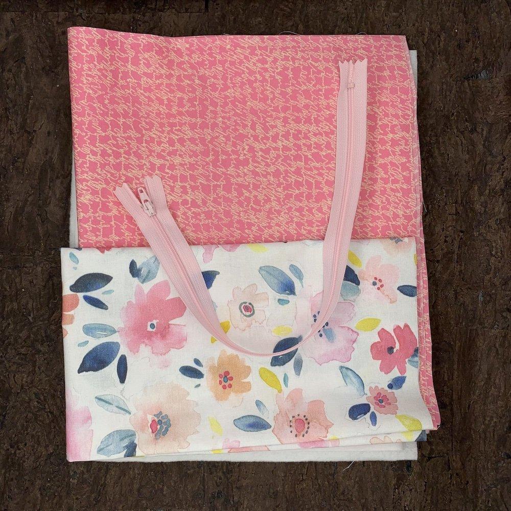 Stitch Box Bag Kit - Watercolor Blooms