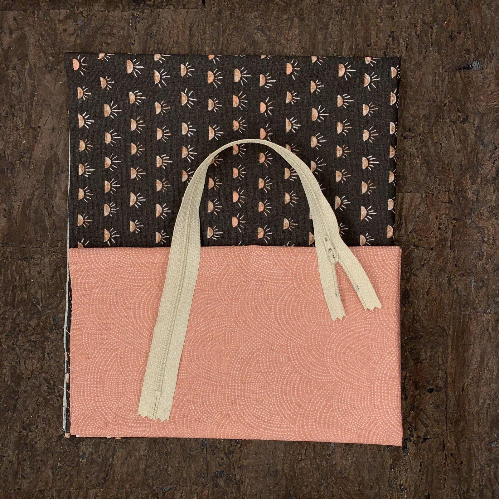 Stitch Box Bag Kit - Rosy Sunrise