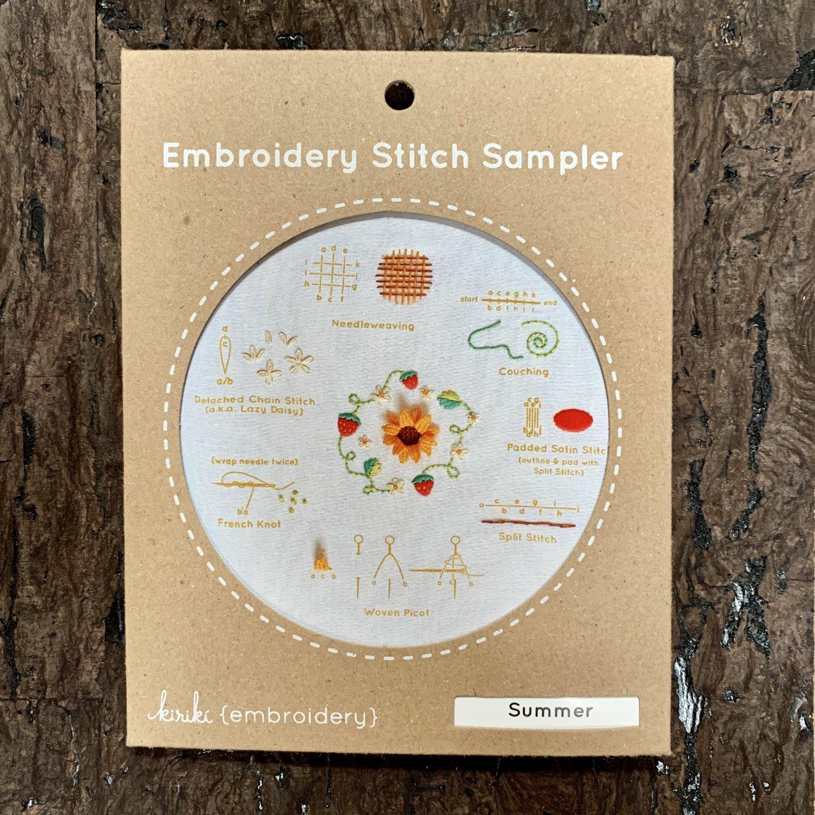 Summer - Kiriki Embroidery Stitch Sampler Kit