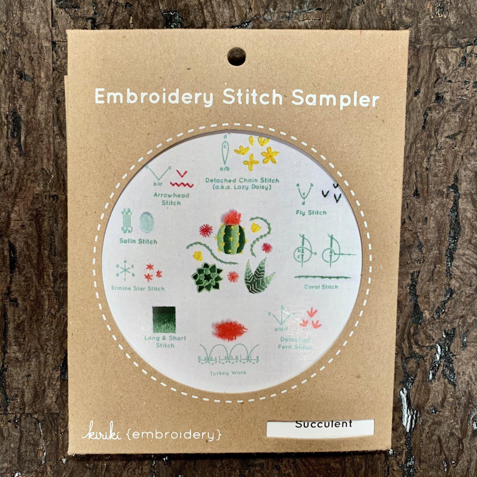 Succulent - Kiriki Embroidery Stitch Sampler Kit