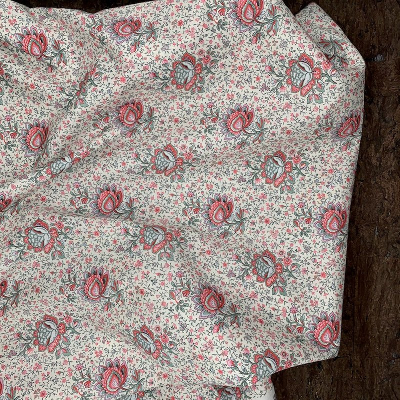Lightweight Cotton - Pink Floral - Italy