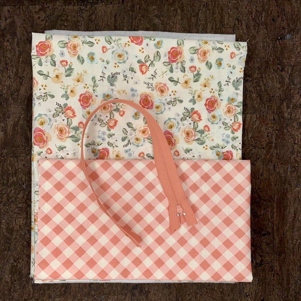 Stitch Box Bag Kit - Floral Gingham