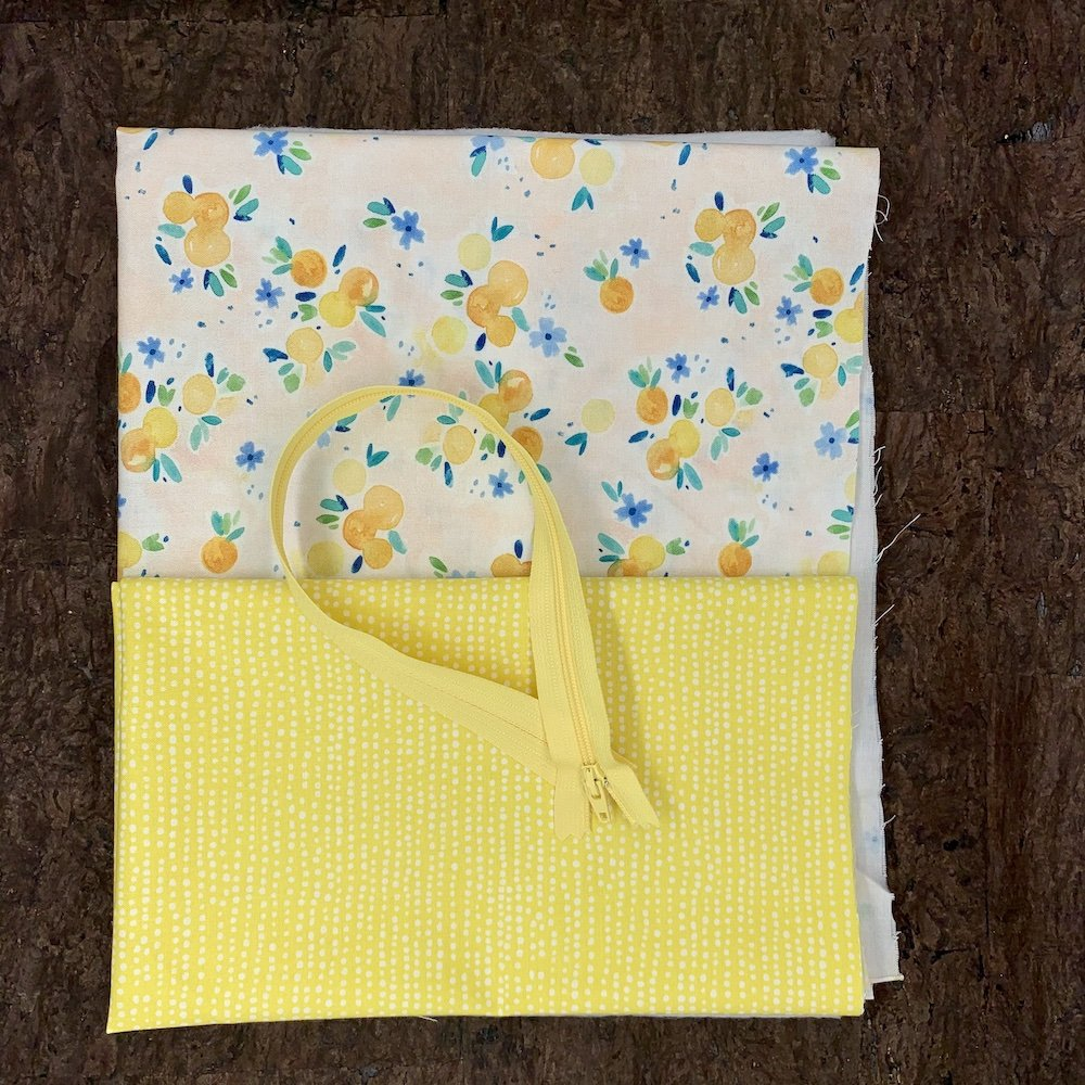 Stitch Box Bag Kit - Fresh Citrus
