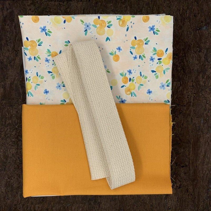 Stitch Tote Bag Kit - Orange Blossoms